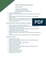Normas Internacionales de Auditoria Deber Segundo Parcial