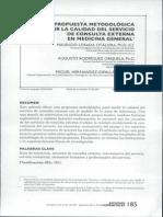 Propuesta Metodologica Para Medir La Calidad Del Servicio de Consulta Externa en Medicina General
