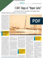 En febrero de 1941 llega el 'vapor Lulio'
