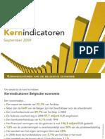 VBO Kernindicatoren 2009, kernindicatoren van de Belgische economie