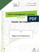 Rapport de Présentation ZAC Rozanoff - Quartier Nord