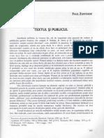 Paul Zumthor Textul si publicul