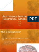 Psychological Disorder Presentation