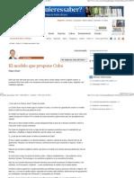 El Modelo Que Propone Cuba Pablo Hiriart