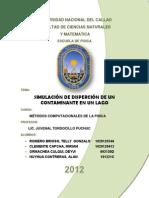 SIMULACION DE DISPERSION DE UN CONTAMAIANTE EN UN LAGO.docx