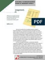 Total cost comparison summary in small to medium business scenarios