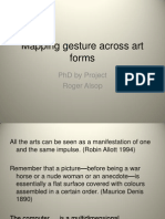 Mapping Gestures Across Art Forms