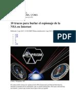 10 Trucos Para Burlar El Espionaje de La NSA en Internet