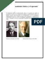 El Condicionamiento clásico y el operante PSICOLOGÍA