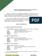 Convocatoria Formación 2009. 2 semestre.firma
