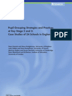 Pupil Grouping Strategies and Practices at Key Stage 2 and 3-Research Report