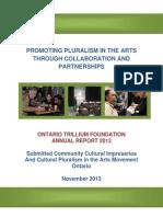 Ontario Trillium Foundation (OTF)  Annual Report 2013