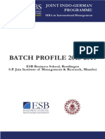 PGCIM 2013 Batch Profile