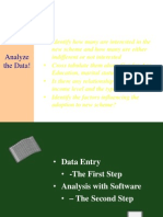 Analyse the Data