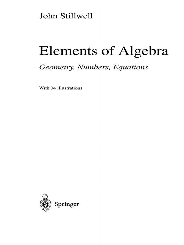 Math elements of algebra stillwell fandeluxe Images