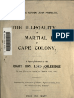 (1902) Illegality of Martial Law in Cape Colony