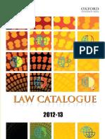 Law Catagloue2012 13