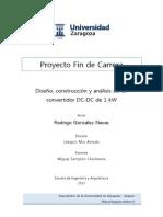 Diseño construccion y analisis de un convertidor DC-DC de 1kw