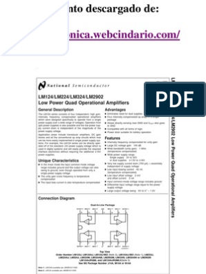 Datasheet LM324 | Amplifier | Operational Amplifier
