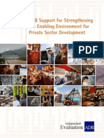 ADB Support for Strengthening the Enabling Environment for Private Sector Development