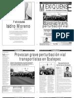 Versión impresa del periódico El mexiquense 30  enero 2014