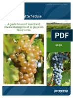 2013 Grape Insect and Disease Management Schedule