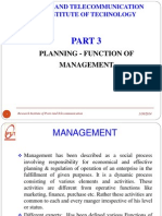 Part 2.1 Plannning Function of Management