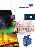 OMICRON CPC100 Primary Test System Specification