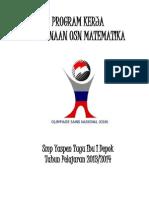 Program Kerja Pembinaan Osn Matematika