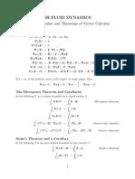 Vector Calculs and Applications