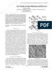 A Review of Zinc-Oxide as Nano Materials and Devices