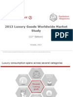 Bain - Luxury Worldwide Market 2013