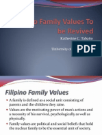 Filipino Family Values to Be Revived