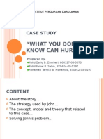 """A case study""""what you don't know can hurt you!"""" for teacher"""