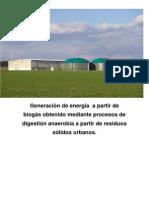 Generación de Energía a Partir de Biogás obtenido por digestión anaerobia de r.s.u.
