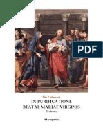 I y II Vísperas.Purificación de Nuestra Señora y Presentación del Niño Jesús en el tempo. 2 de febrero. Forma extraordinaria del Rito Romano