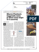Pantani era un dio di Marco Pastonesi sul venerdì di Repubblica