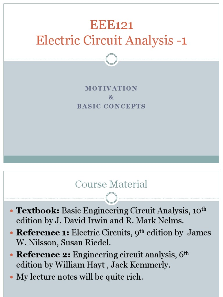 EEE121 - Electric circuit analysis | Electrical Network | Network ...