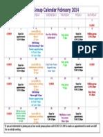 One Stop Shop Calendar - Feb