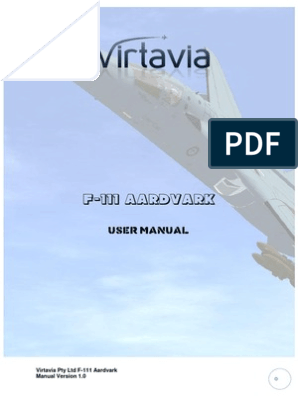 Virtavia F-111 Manual | Aviation | Aerospace