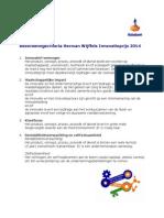 Beoordelingscriteria Herman Wijffels Innovatieprijs 2014 29619698