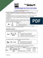 calculo de qtd de tinta por área