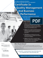BC4909- Certificate in Quality Management & Business Performance