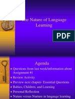 The Nature of Language Learning