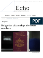 Bulgarian Citizenship - The Latest Numbers - Bulgaria - The Sofia Echo