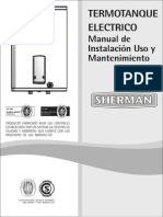 Manual Termotanques Sherman - Linea Electrica.pdf