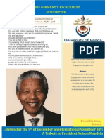 University of Venda Student Community Engagement Newsletter