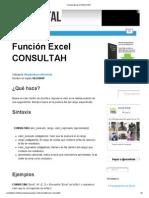 Función Excel CONSULTAH