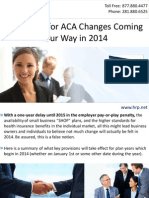 Get Ready for ACA Changes Coming Your Way in 2014