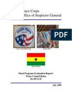 Peace Corps Ghana Final Program Evaluation Report IG0913E